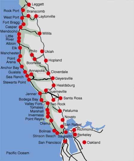A Scenic Drive Along The Northern California Coast Marin, Sonoma & Mendocino Counties