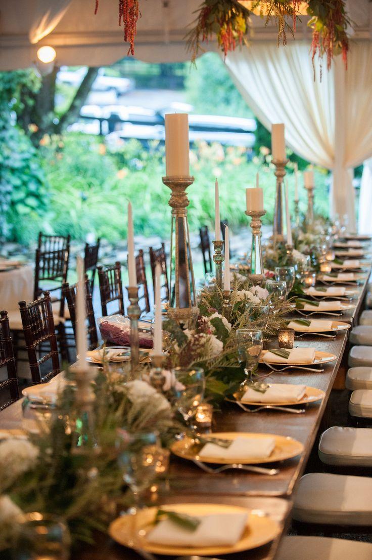 long table setup wedding reception%0A Beautiful wedding reception table setting