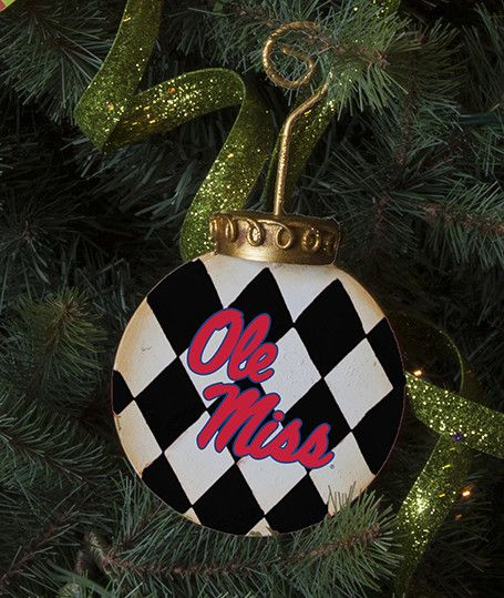 Vintage Sports Christmas Ornaments - Ole Miss - 2 Packages of 3