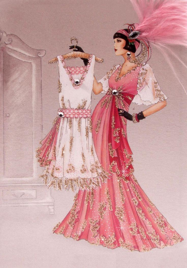 artdeco.quenalbertini: Deco Lady Fashion Illustration