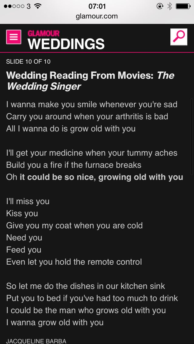 Quote From The Wedding Singer
