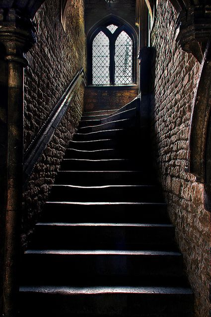 An old stairway in the former Brown's Hospital.- Stamford