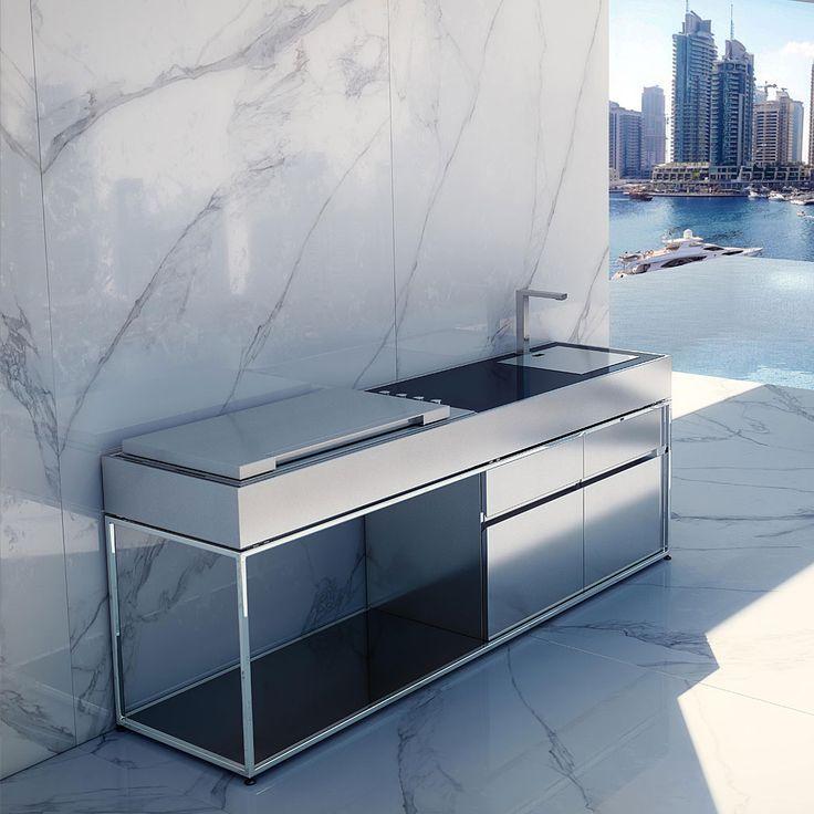 Cocoa island luxus outdoor k che ist ein moderner for Luxus outdoor kuche