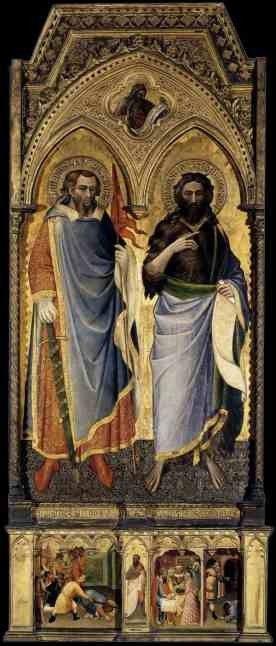 Святой Немезий и Святой Иоанн Креститель. 1385