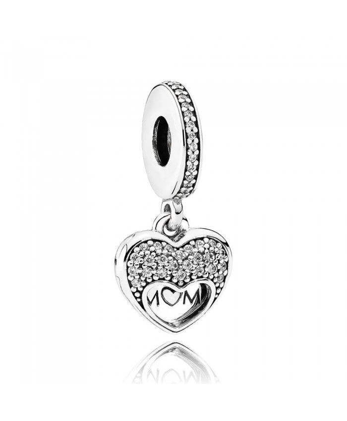 PANDORA Sentiments for Mum Charm 792071CZ Mother's Day gives mother the best gift.