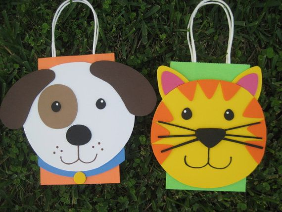 Dog and Cat Birthday Party Favor Bag