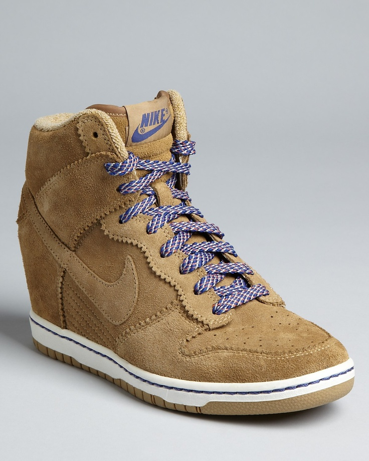 Nike High Top Wedge Sneakers - Nike Dunk Sky Hi | need these for my new found love of high-tops