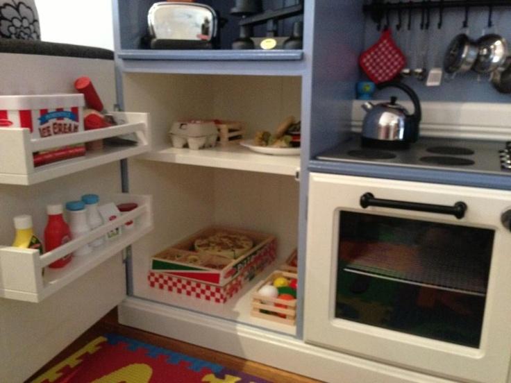Play kitchen fridge