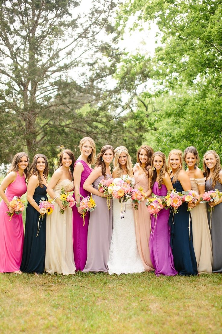 94 best mismatched bridesmaid dress ideas images on pinterest colorful boho diy wedding mix match bridesmaidsmismatched bridesmaid dresseswedding ombrellifo Choice Image