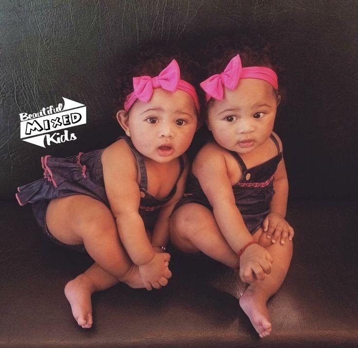 Anavi & Ivana - 7 Months • Native American, Puerto Rican, Bajan, Italian & African American ♥️♥️ FOLLOW @BEAUTIFULMIXEDKIDS http://instagram.com/beautifulmixedkids