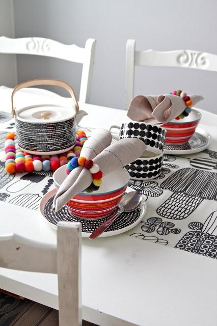 Marimekko table setting
