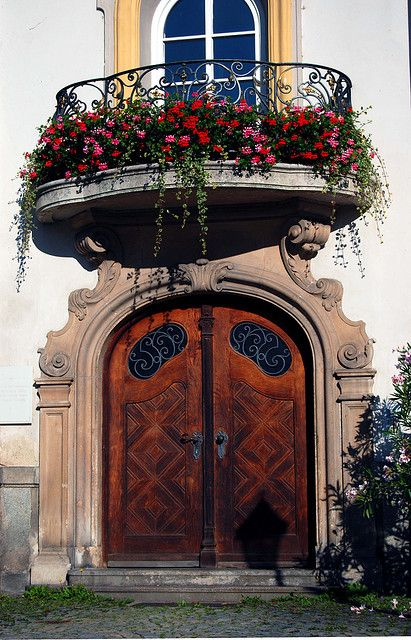 Door And Balcony With Flowers - Passau, Germany