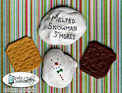 Stacey's Sweet Shop - Truly Custom Cakery, LLC: November 2011: Christmas Baking, Snowmen Smore, Christmas Delight, Campfire Smores, Melted Snowman, Campfires Smore, Christmas Eating, Snowman S More, Snowman Smore