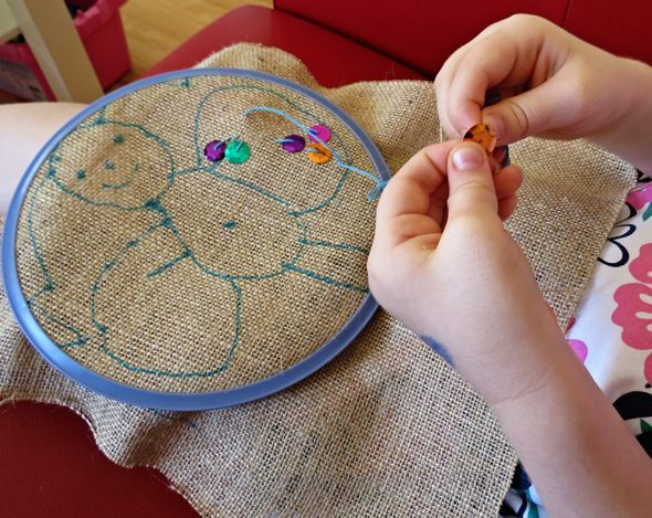 Hand sewing projects for kids - Q would love this.
