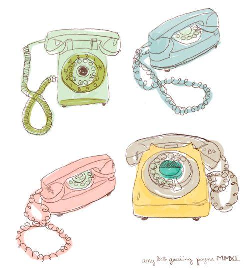 239 Best Telephones Illustrations Images On Pinterest