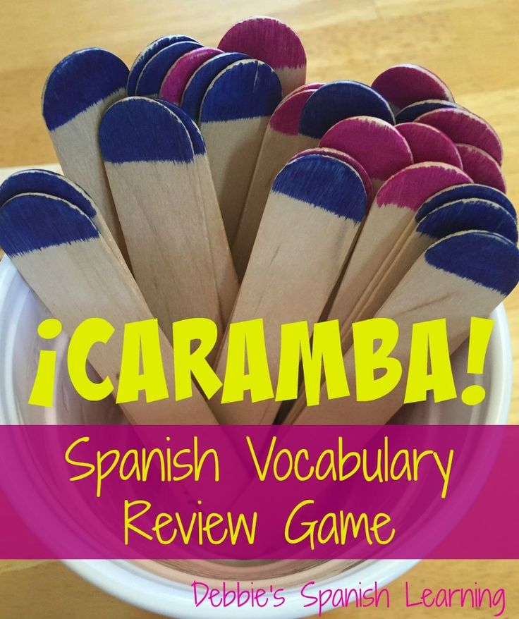 ¡Caramba! Game for reviewing different sets of vocabulary