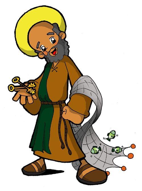 Dibujos para catequesis: SAN PEDRO | Apóstoles de jesús