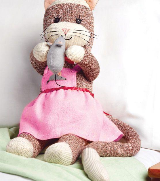 Miss Kitty Sock Monkey Companions Kit at Joann.com