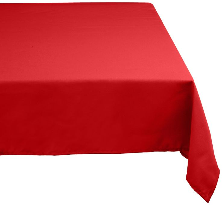 Amazon.com - DII 100% Polyester, Machine Washable Tablecloth Tango Red  52x70,