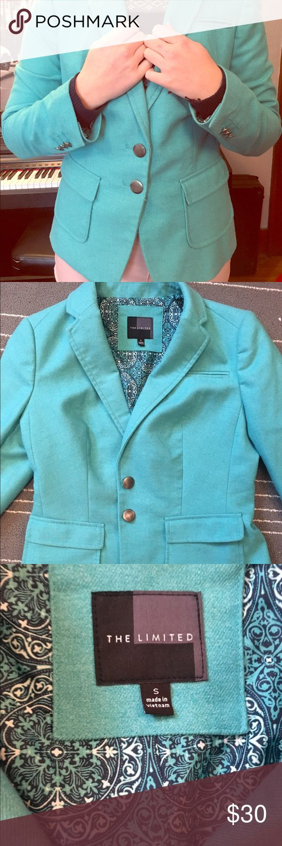 Teal Women's Suit Jacket Polyester and rayon beautiful and professional suit jacket. Only worn once! Let me know if you have any questions!! The Limited Jackets & Coats Blazers