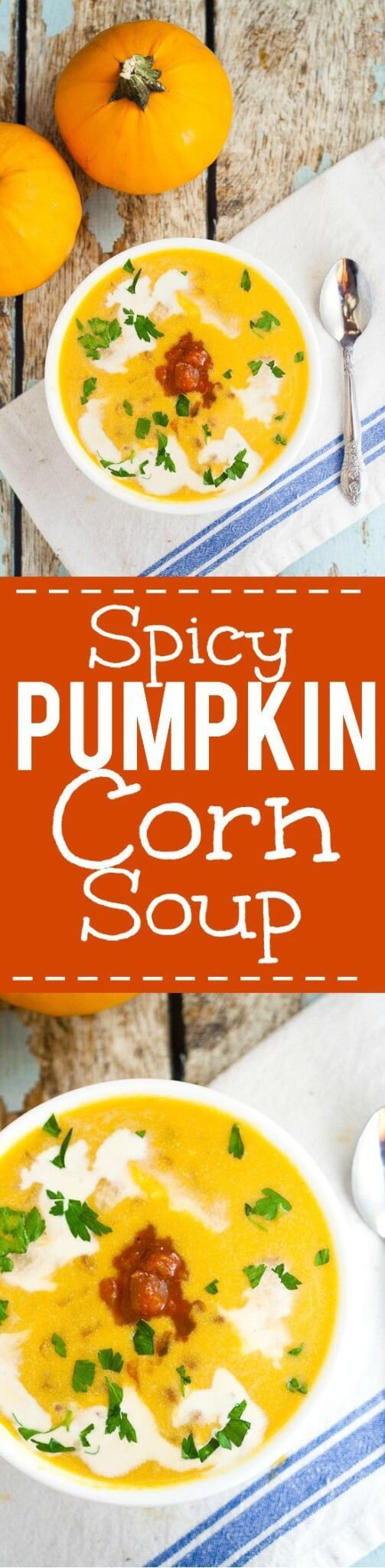awesome Spicy Southwest Pumpkin Soup recipe