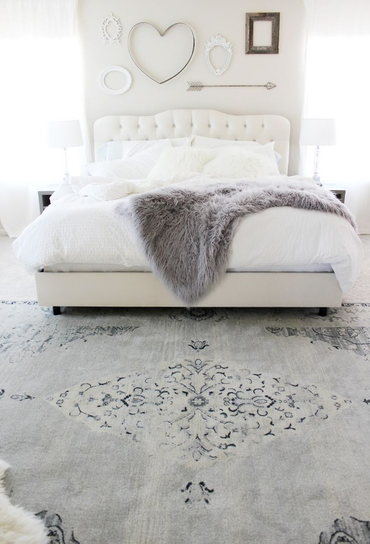 Aubrey kinch the blog master bedroom reveal for White fur bedroom