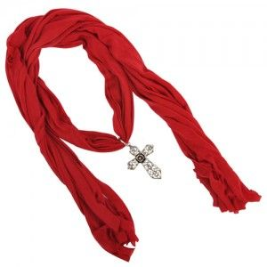 Red Pendant Scarf WAS $12.95 NOW 8.95