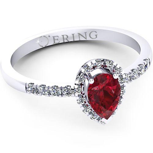 Inel logodna L71ARB inel cu diamant si rubin