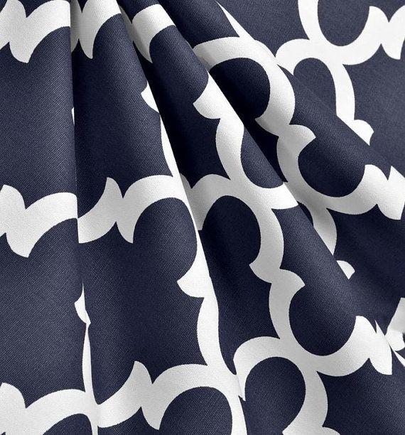 Navy Blue Curtain Panels Modern Geometric von exclusiveelements