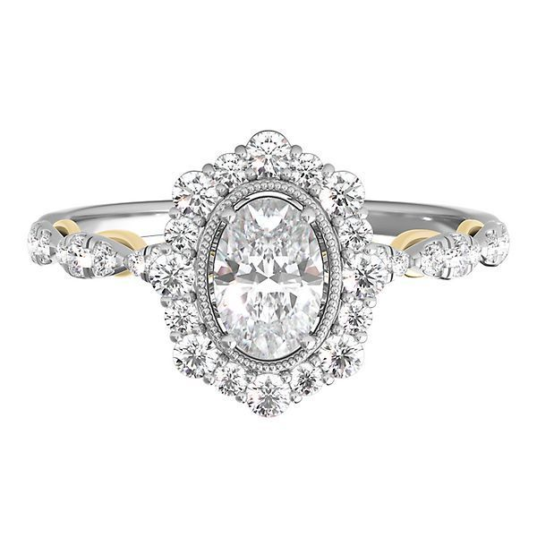 TRULY™ Zac Posen 7/8 ct. tw. Diamond Engagement Ring in 14K White & Yellow Gold
