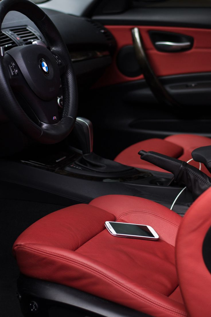 ♂ Black & red car interior  #car #wheels #red