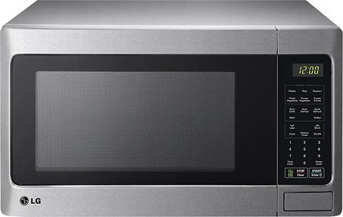 LG - 1.5 Cu. Ft. Mid-Size Microwave - Stainless Steel - Larger Front