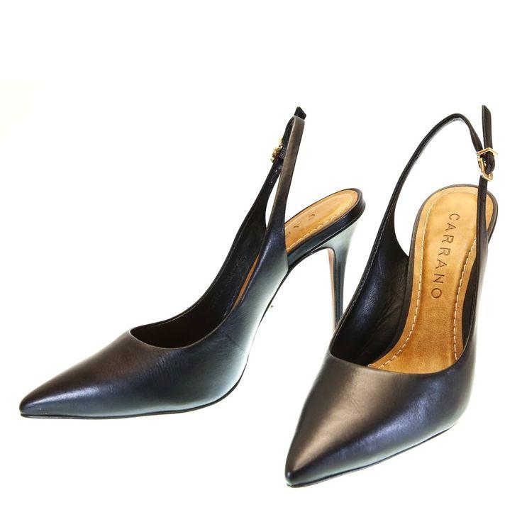 Scarpin Chanel Preto 1303 Carrano by Moselle   Moselle sapatos finos femininos! Moselle sua boutique online.