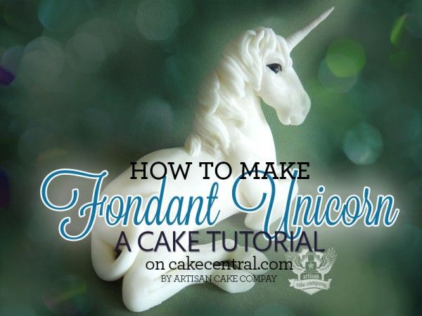 Fondant Unicorn Cake Topper - Tutorial - Cake Central I don't think I have the skills for this Paige.