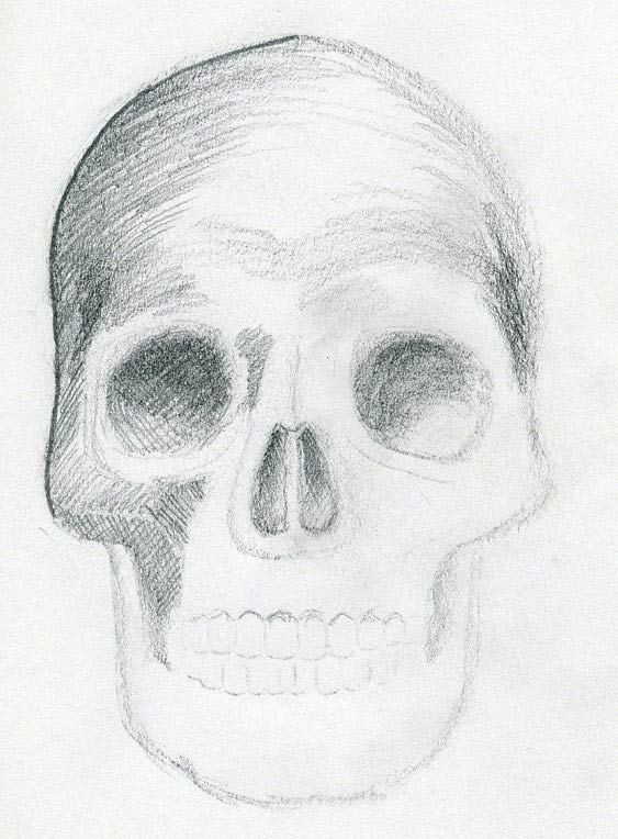 Learn how to draw skulls, here's how