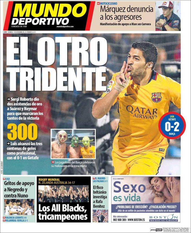 Portada Mundo Deportivo 1/11/2015