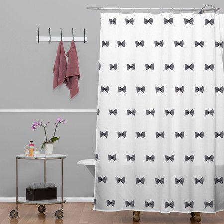 Social Proper Bows Bows Bows Shower Curtain