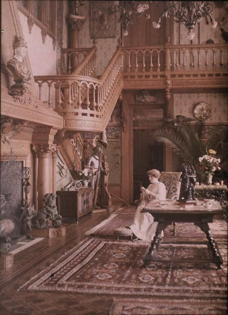 Vevey, Villa Claire, l'intérieur de la Villa  Description :  Fonds Gustave Eiffel  Auteur :  Anonyme