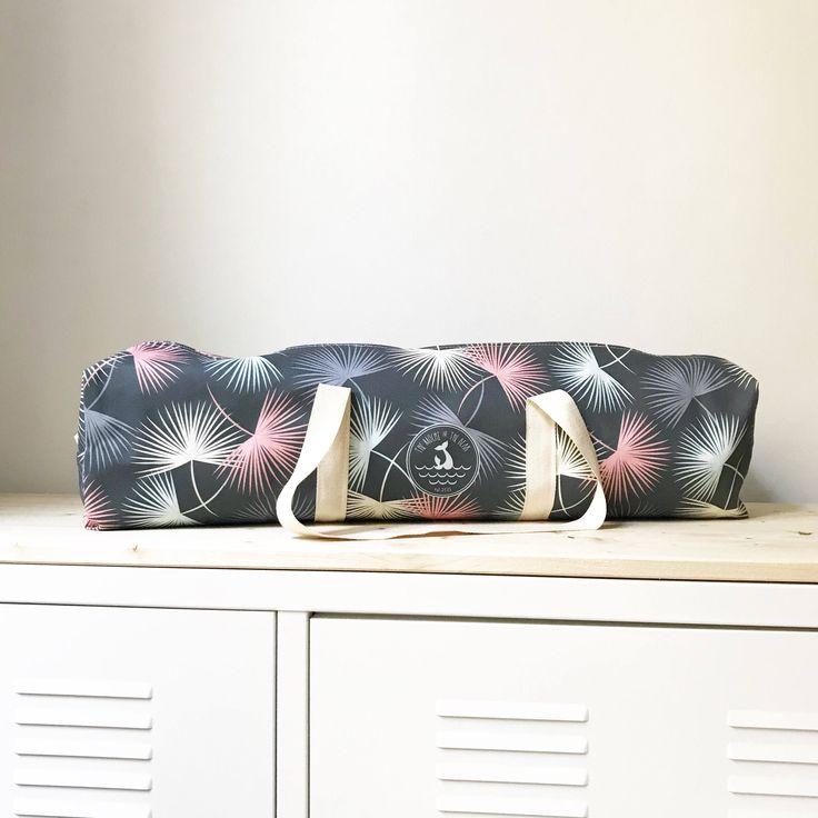 Palm Leaves Yoga mat Bag - gym bag - meditation - pilates bag - yoga lover gift - yoga bag - surf style - summer - mat bag - large yoga mat