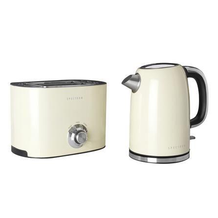 Spectrum Cream Kettle and Toaster Set