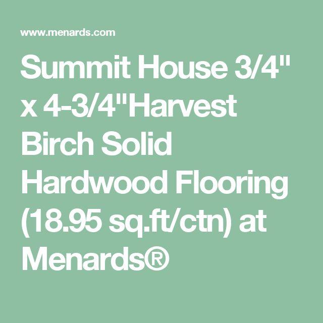 "Summit House 3/4"" x 4-3/4""Harvest Birch Solid Hardwood Flooring (18.95 sq.ft/ctn) at Menards®"