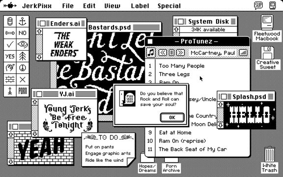 Mac OS 6 love. I miss my bitmaps and shockingly contrasted interfaces. Well, not…