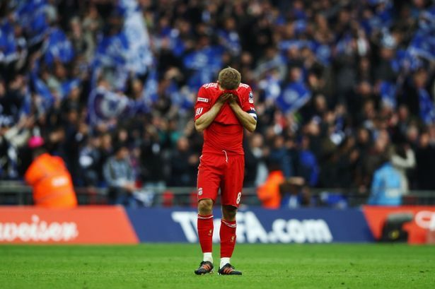 Steven Gerrard is Heart broken after Liverpool defeat in FA CUP