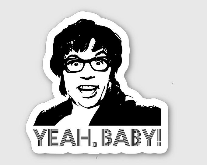 Tiny Austin Powers Sticker Austin Powers Yeah Baby Austin Powers New Sticker