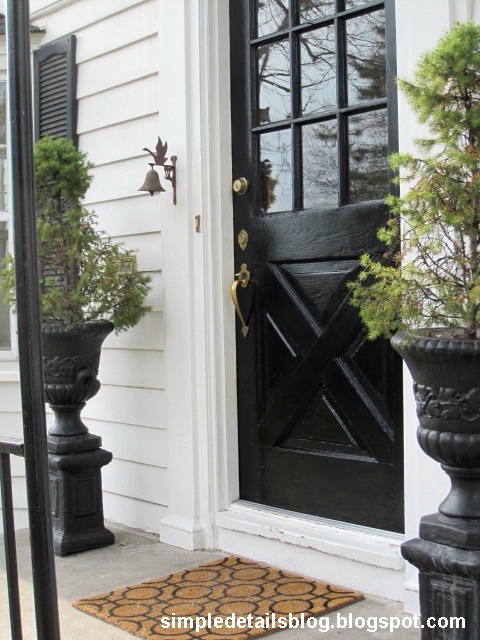 Gloss Doors Black Front Door By Snazzylittlethings Com: Door- Rust-Oleum Used To Paint Door
