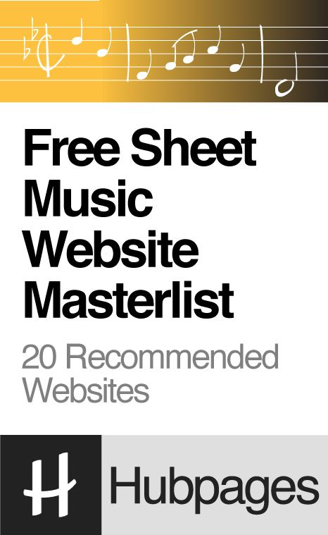 Free Sheet Music Website Masterlist (Piano, Guitar, Flute and more) - http://hubpages.com/entertainment/Top-10-Free-Sheet-Music-Websites