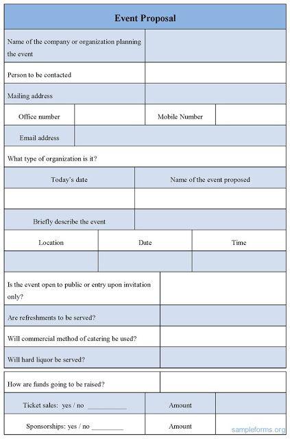 Event Proposal Sample Letter