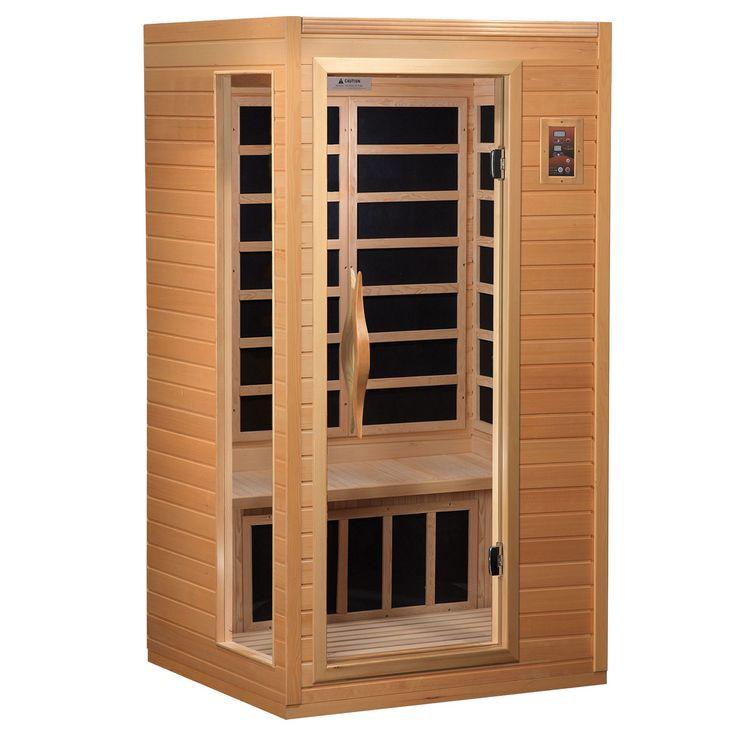 Better Life 1-2 Person Sauna (1-2 Person Hemlock Sauna) (Glass)