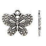 12pcs--Butterfly, Antique Silver, 21X25