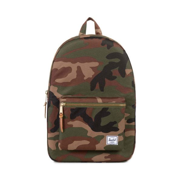 Herschel Supply Co Settlement Backpack Woodland Camo ($69) ❤ liked on Polyvore featuring bags, backpacks, camouflage bag, herschel supply co backpack, camo daypack, herschel supply co bag and camo bag